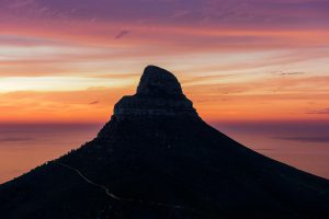 Lions Head Sunset from Photo Tour Hike. Cape Town Photo Tours
