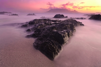 Exquisite Beautiful Table Mountain Sunset. South Africa Photo Tour