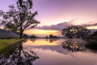 Tranquil Sunrise Royal Natal National Park. South Africa Photo Tour