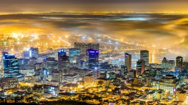 Mist over the city of Cape Town. Photo Tours South Africa