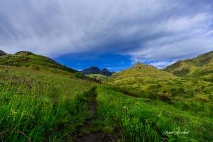 Drakensberg Hiking Trail. South Africa Photo Tour