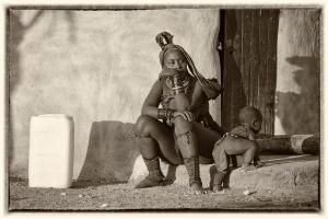 Himba authentic village. Namibia Photo Tour