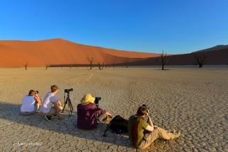 Photography Tours Group at deadvlei. Namibia photo tours