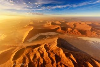 Beautiful Aerial Photo of Sossusvlei Namibia at Sunrise. Namibia photo tours