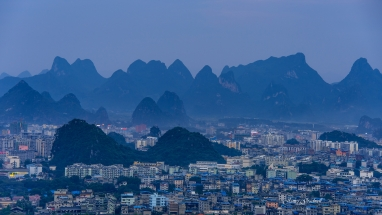 Guilin City in Karst Mountains. China Photo Tour