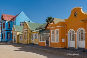 Luderitz Town Colourful Architecture. Copyright James Gradwell