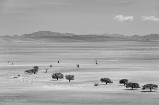 Black and White Landscape Photo Tirasberg. Namibia photo tours