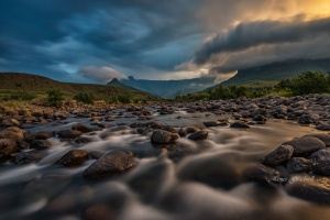 Beautiful Dramatic light  Amphitheater Drakensberg. South Africa Photo Tour